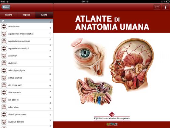 Recensione: da goWare, l\'Atlante di Anatomia Umana per iPad in ...