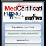 iMedCertificati disponibile per smartphones Android