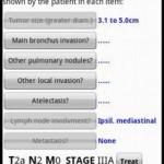 Oncologia: calcolatore TNM dei tumori polmonari per Android