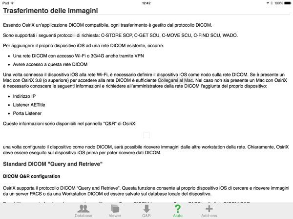 OsiriX HD DICOM PACS Viewer iPhone iPad recensione Mobimed 5