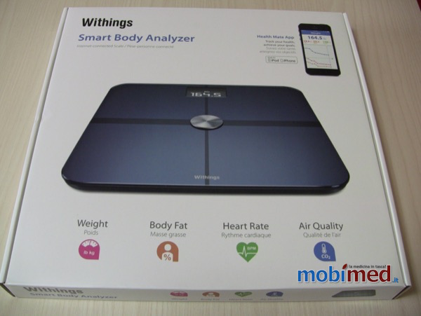 Recensione Withings Smart Body Analyzer Mobimed WS 50 bilancia frequenza cardiaca BMI iOS Android 1