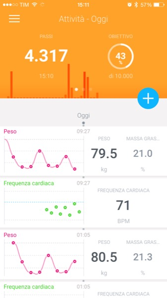 Recensione Withings Smart Body Analyzer Mobimed WS 50 bilancia frequenza cardiaca BMI iOS Android Health Mate 2