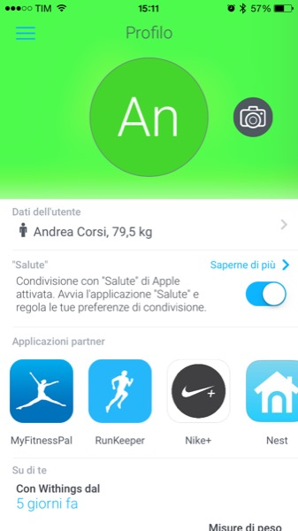 Recensione Withings Smart Body Analyzer Mobimed WS 50 bilancia frequenza cardiaca BMI iOS Android Health Mate 7